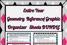 Geometry Reference/Organizers Sheets / Teacher and student summary sheets of major geometry units and concepts for reference!