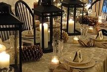 Holiday Decor/Table Settings / A well set table speaks volumes about the way a hostess cares about her guests.