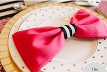 Pink, Black + Gold Party / Inspiration for pink, black, and gold themed celebrations.