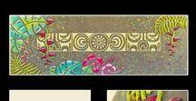 Femy painting / Acrylique sur toile avec motifs en relief réalisés à partir d'une pâte à base de papier. Made in Tahiti, Polynésie française. https://www.femypainting.com