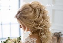 Pretty hair, makeup and nails / Braids, Wedding hair, pretty hair and makeup!♡
