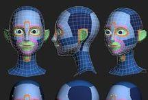 3D modeling: Face