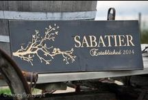 Family Name Signs - Country Sign Designs / Visit us at http://countrysigndesigns.com