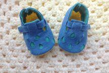 Handmade Felt Booties / My Handmade and Hand-stitched Baby Booties