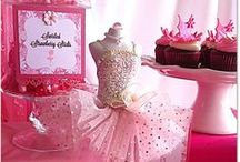 Pink Tutu Ballerina - Candy Bar / A beautifully decorated sweets and treats table with desserts made to perfection and 100% homemade! Stylish and elegant decorating accents made of this table one of our most celebrated creations at our fan page!
