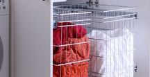 Laundry Storage / Functional storage ideas for the laundry.  Stylish stainless steel basket solutions which are tick all the boxs for every days needs in the laundry.
