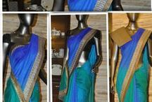 Unique designer sarees from Boutique Amra / An exclusive collection of designer sarees in beautiful colours.