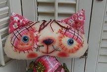 Котики / текстильная игрушка примитивы
