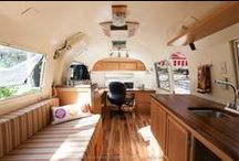 Dreaming: Airstream Office / This board started as an source of inspiration for a vintage trailer office and in the end we renovated an Airstream into an office for our future campground.  Love seeing other ideas and beautiful work spaces.