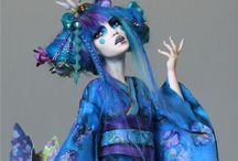 Polymer clay art dolls / Clay dolls by diverse artists and idea's for my own / by Kim U
