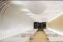Curved Ceilings / Undulating shapes, curves & dramatic bulkheads.