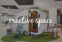 Creative Workspace / Workspaces designed to enhance creativity and productivity.