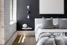 Inspiration | Black Walls / Just black walls...I love black walls.