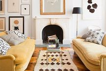 Inspiration | Living Rooms with Two Sofas / Living Rooms that have two sofas...I love that arrangement.