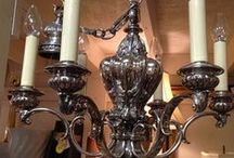 Chandeliers and Other Sparkly Lights That Hang and Some That Just Sit / SISTERS ANTIQUES