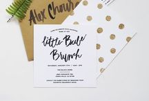 invited {non-wedding} + paper goods / invitations, baby announcements, baby showers, birthdays, parties, thank you's etc. / by Danelle Bourgeois