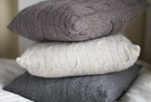 Cosy Knits / Feel warm and fuzzy with these cosy home accessories.