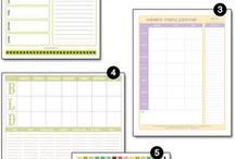 Planners, Calendars, Lists, Forms, etc. / by Diane Cabral