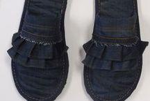 Proyecto Social Pantuflas con descarte de Levi's / Proyecto Social-trabajo hecho por las alumnas de la UB. 1ro y 2do.año 2012/2013-Donacion de Levi's material: jeans. — en Dos años UB.