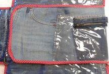 Proyecto Social (RSU) Cambiador/organizador para bebes con descarte de jeans Levi's / Proyecto Social (RSU) realizado por las alumnas de 2do.año para la Maternida Sarda'.  Donacion Levi's jeans Univ. de Belgrano/materia Diseño de Accesorios