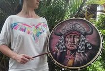 Native American Indian Hand Drums