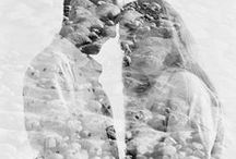 DOUBLE EXPOSURE / Dreamy shots of couples and newly weds taken using multiple exposure technique.