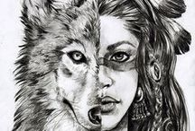 wolves(for tattoo)