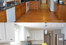 Re-faced kitchens / This board shows examples of some great kitchen refurbishments ranging from painting doors, to full replacements. Showing how easily, and cheaply you can update your kitchen.