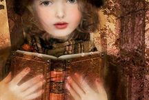 """Books and Readers /  """"A truly great book should be read in youth, again in maturity and once more in old age"""" ― Robertson Davies  / by JulietG"""