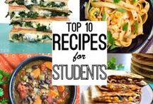 Recipe ideas for College Students / What College Student doesn't love food? Here are some easy recipes any college student can conquer.