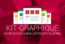 kit graphique / Des kit graphiques sont mis à votre disposition pour donner une nouvelle image à votre site.