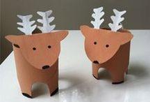 christmas crafts reindeers-elfs