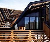 Living ideas Vladka & Martin / Beams * Scandi * Modular house * Prefab house * larch * slats * pure lines *