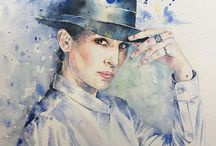 AnnaGArte - Anna G. Watercolor Art / Fashion Design Illustrations, sketches and watercolor drawings by Anna G.