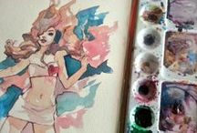 get inspired! / Pin up, sketches and some characters I love