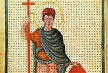Louis 1° le Pieux (818-840) né 778, roi d'Aquitaine puis roi des Francs / *Roi d'Aquitaine (781-814), Empereur d'Occident, Roi des Francs (814-840). *Né en 778, décès le 20 juin 840. Père: Charlemagne, Mère: Hildegarde de Vintzgau. Conjoint: *Ermengarde de Hesbaye (798), Judith (819). Enfants: *Avec Hildegarde: Lothaire 1° (roi) 795-855. Pépin 1° (roi) 797-838. Hildegarde (abbesse de St Jean de Laon). Louis II (roi v 806-876. Rotrude. *Avec Judith de Bavière: Gisèle v 819/20-874. Charles II (roi) 823-827. *Avec Theudelinde de Saxe: Alpaïs. Arnulf v 794-v841. / by pascale L.