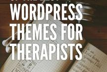 WordPress for Therapists / Do you have a counseling website that uses WordPress or want to create one. These pins have you covered! | wordpress for therapists, wordpress theme for therapists, wordpress themes for psychologists, therapy wordpress theme, websites for therapists, therapist website template, counselling wordpress theme