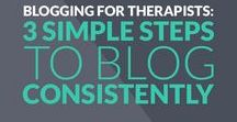 Blogging Tips for Therapists & Counselors / All the resources you need to help you create great content for your therapy or counseling blog | therapy blog tips, blogging for private practice, counseling blog, psychotherapy blog, therapist blog tutorials, private practice blogging for therapists, blogging for counselors, blogging for therapists