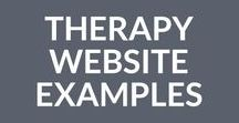 Therapy Website Examples / Therapy website inspiration, therapist website examples, private practice website design, counseling websites, speech therapy websites, psychotherapy websites, counselor websites, psychology website design. If you want to pin your site or any great therapy website, follow this board and email daniel@createmytherapistwebsite.com to be added as a contributor. Your site may get featured on the CMTW blog: http://bit.ly/1ghCStx