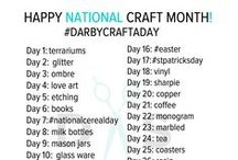 National Craft Month / Happy National Craft Month! We're celebrating with one new craft a day with #darbycraftaday. Join the conversation on our Instagram and Facebook. Don't forget to share your DIY and craft creations. We just might post it up!