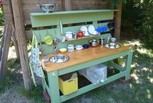 mud kitchens / create an awesome space to get grubby, make muddies and have fun outside / by dirtgirl from dirtgirlworld