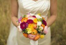 Ranunculus and Freesia bouquets / wedding flowers designed by Minneapolis wedding florist Artemisia Studios