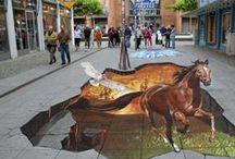 street art / umělecké vyjádření kresbou chodníků, budov a pod. / by Iva Brožková