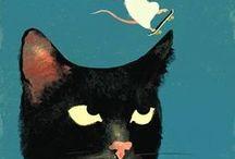 A CAT / cats, modern cats, modern art, искусство, живопись, кошки, модерн. / by Ирина Агалакова