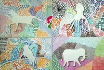 Kuvisideoita/Art ideas for primary school