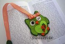felt bookmarks and inspiration / záložky do knih a inspirace k jejich zhotovení / by Iva Brožková