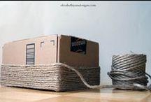 DIY Koυτια  Καλαθια / ,