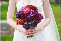 Olympic Hills Golf Course / Beautiful red and purple wedding floral for wedding at Olympic Hills Golf Course. Photos by Perry James Photography (http://www.perryjames.photo/)