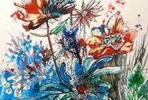 My artwork florals / https://www.facebook.com/RebeccaYoxallArt