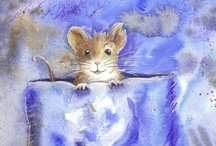 Mice Mouse Children's book 'Lost in the Snow' by Michael Beddard, and some mice pics / https://www.facebook.com/RebeccaYoxallArt